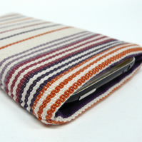 RESERVED: Stripey iphone / phone case made from vintage danish fabric