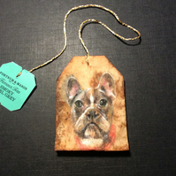 Dog Portrait Teabag Art Custom Pet Portrait