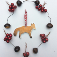 Fox Christmas Decoration or Gift Tag
