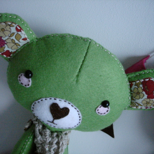 Liberty the green felt bear