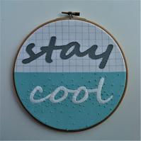 Stay Cool Embroidery Hoop