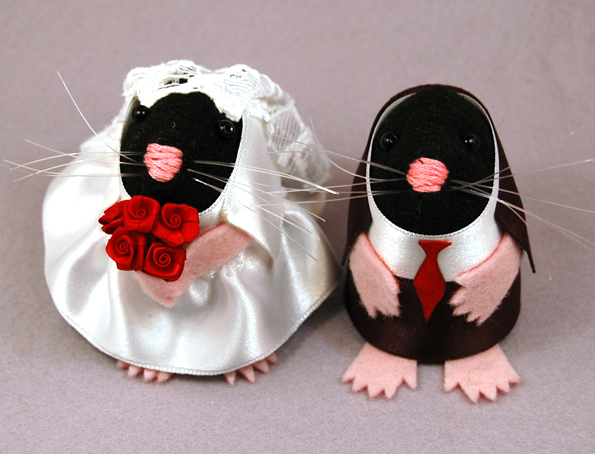 Moles Wedding Cake Topper