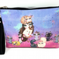 Cats and Girl Wristlet Clutch Bag, Essentials Bag, Grab and Go, Waterproof Bag