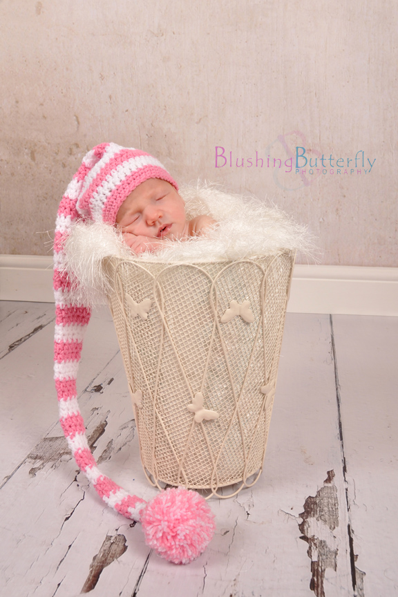 Knitting Pattern Newborn Elf Hat : Newborn Crochet Knit Baby Elf Pixie Hat in Pink... - Folksy
