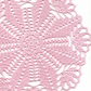 Wedding Doily, Crochet doily, lace doilies, crocheted center piece, pink
