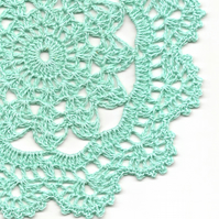 Crochet Doilies Pure Linen Doily Wedding & Home Decor Eco Friendly Tablecloth