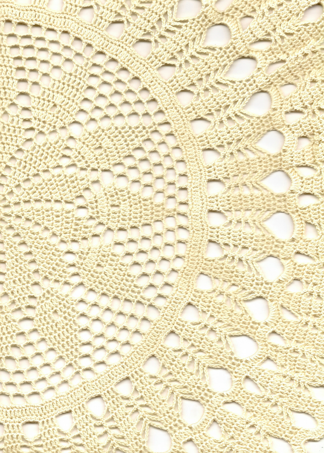 Large Crochet Doilies Cotton Doily Wedding Decor Table Centerpiece Cream Rustic