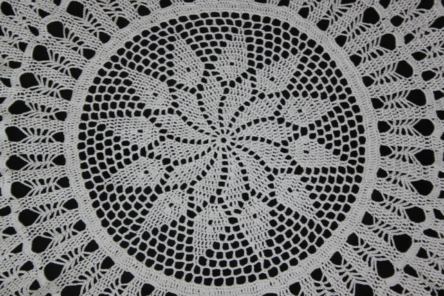 Large Crochet Doilies Cotton Doily Wedding Decor Table Centerpiece White Rustic