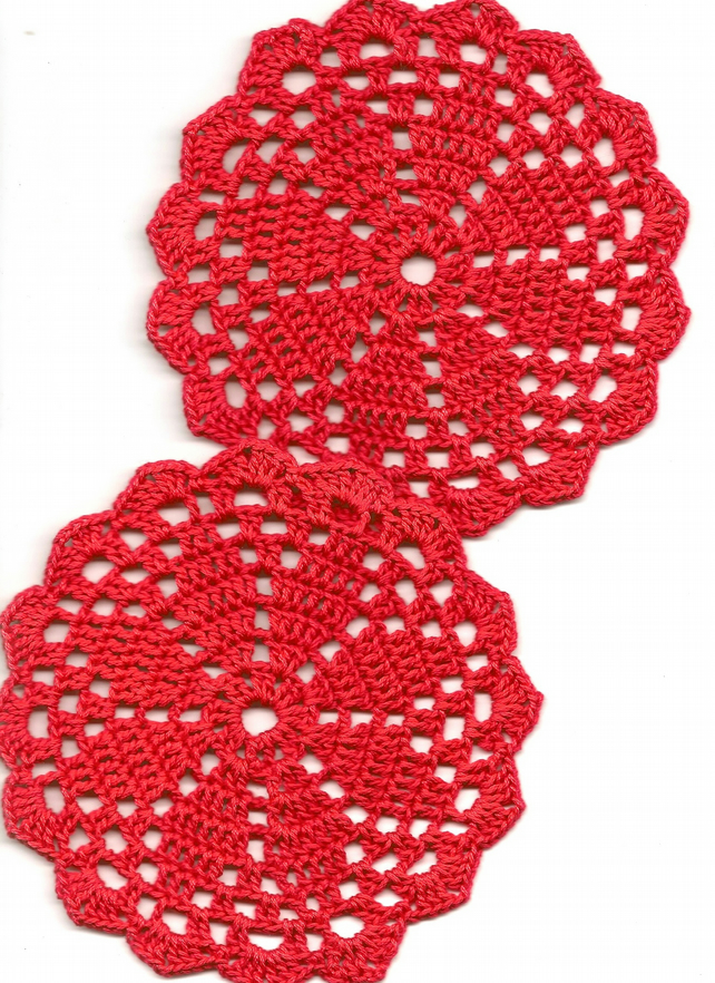 Crochet Doily Cotton Doilies Home Christmas Decor Table Decoration Mini Doily
