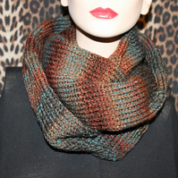 Hand made knitted women cowl hood infinity scarf neck warmer snood shawl