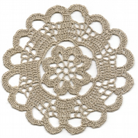 Crochet Doilies Pure Linen Doily Natural Eco Friendly Tablecloth Kitchen Decor