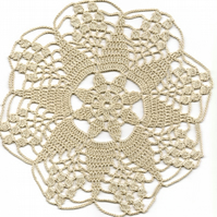 Crochet Doilies Cotton Doily Wedding Decor Table Centerpiece Natural Rustic