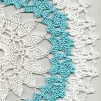 Crochet Doilies Cotton Doily Wedding & Home Decor Eco Friendly Tablecloth White
