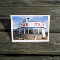 The Horn greetings card