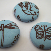 Set of Three Tattoo Design Bird, Butterfly & Dragonfly Badges