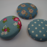Spots & Flowers Fabric Badge Set