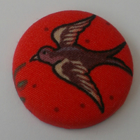 Retro Birdy Fabric Badge