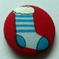 Christmas Stocking Fabric Badge