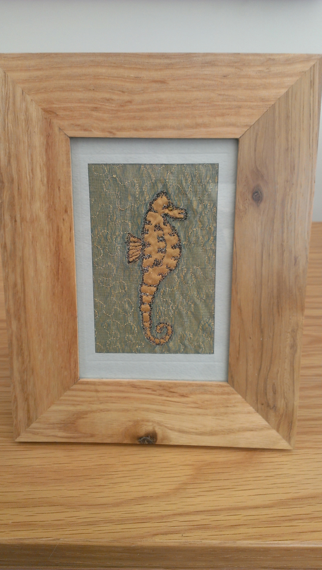 Seahorse Machine Embroidered Picture
