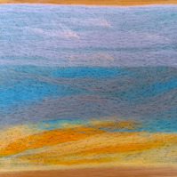 SALE Needle Felted Seascape Picture