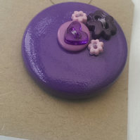Purple Button PVC Badge