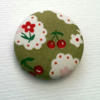 Vintage Floral Fabric Badge