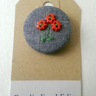 Hand Embroidered Posy Badge