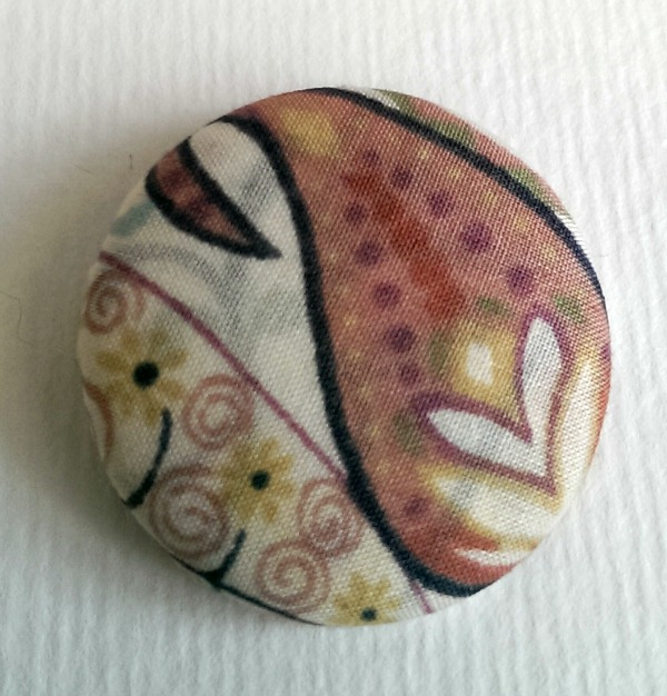 SALE Liberty Paisley Fabric Badge
