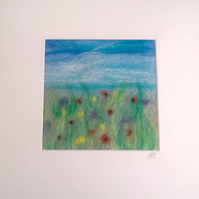 Meadow Flowers Needle Felted Picture