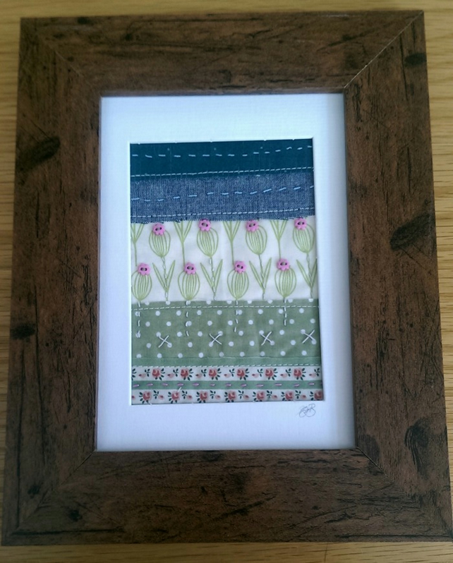 SALE 'In The Garden' Mini Quilt Picture