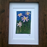 'Daisy, Daisy' Embroidered Print