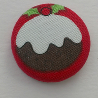 Christmas Pudding Fabric Badge