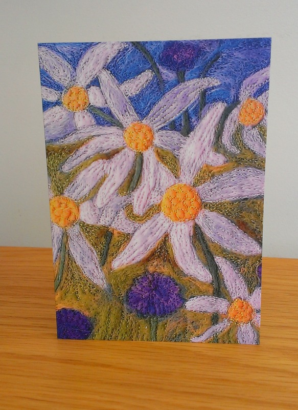 Daisy & Cornflower Greeting Card, Image From Original Artwork