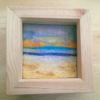 Northern Seas Felted Picture