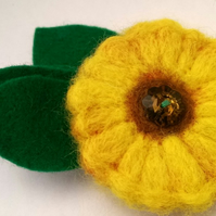 Sunflower Brooch Corsage