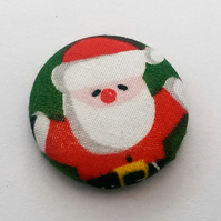 SALE Christmas Father Christmas Fabric Badge (Green)