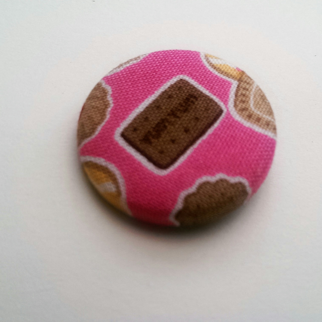 Chocolate Biscuit  Fabric Badge