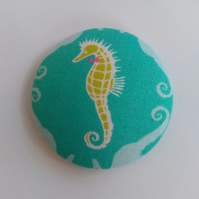 Large Seahorse Fabric Badge Brooch