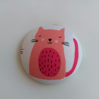 Cat & Kitten Fabric Badge Brooch