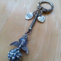 SALE Special Teacher Thank You Angel Keyring Charm
