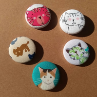 SALE Crazy Cat Lady Badge Set