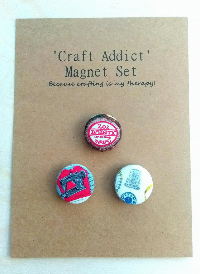 SALE Craft Addict Magnet Set