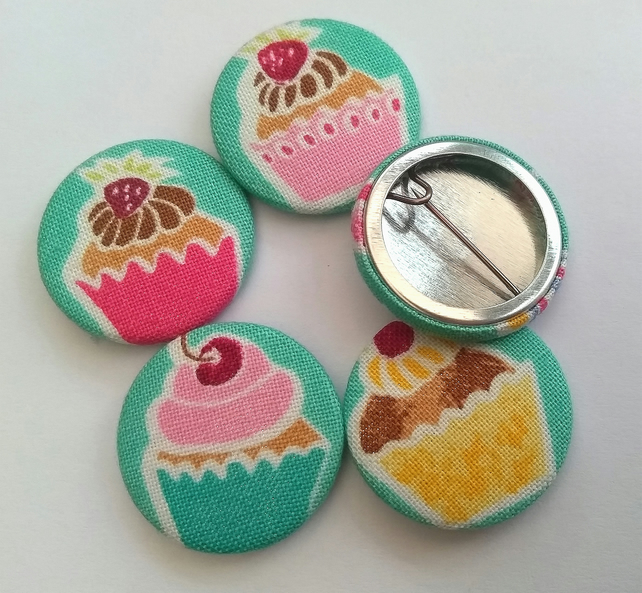 Pack of Five Cupcake Badges