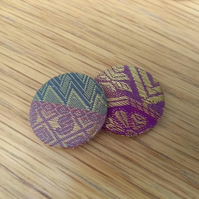 Indian Silk Fabric Badge Set