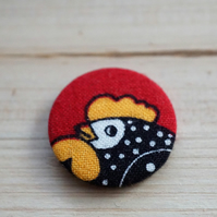 Chicken Fabric Badge