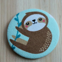 Sloth Fabric Pocket Mirror