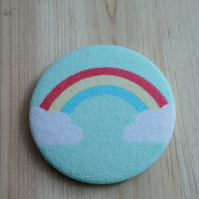 Rainbow Fabric Pocket Mirror