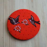 Vintage Love Bird Pocket Mirror