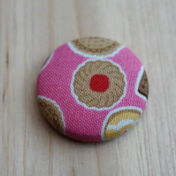 SALE Jammy Dodger Biscuit  Fabric Badge
