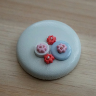White Button PVC Badge